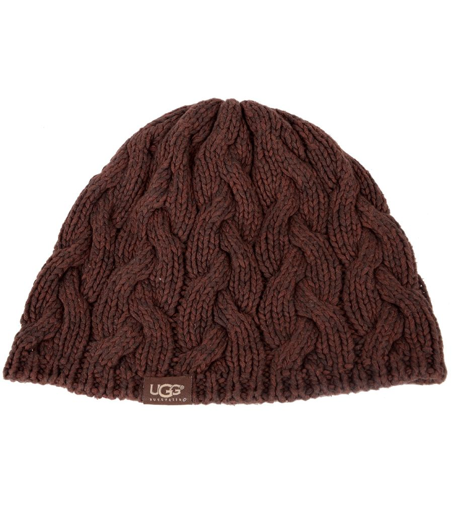 UCG Australia Brown Woollen Knitted Beanic Cap