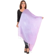 Sanida Reversible Silk Pink/Multi Shawl