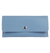 Envie Faux Leather Blue Magnetic Snap Wallet