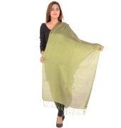 Sanida Silk Solid Reversible Green/Purple Shawl