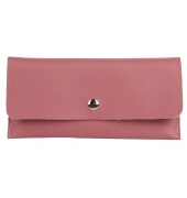 Envie Faux Leather Solid Peach Magnetic Snap Wallet
