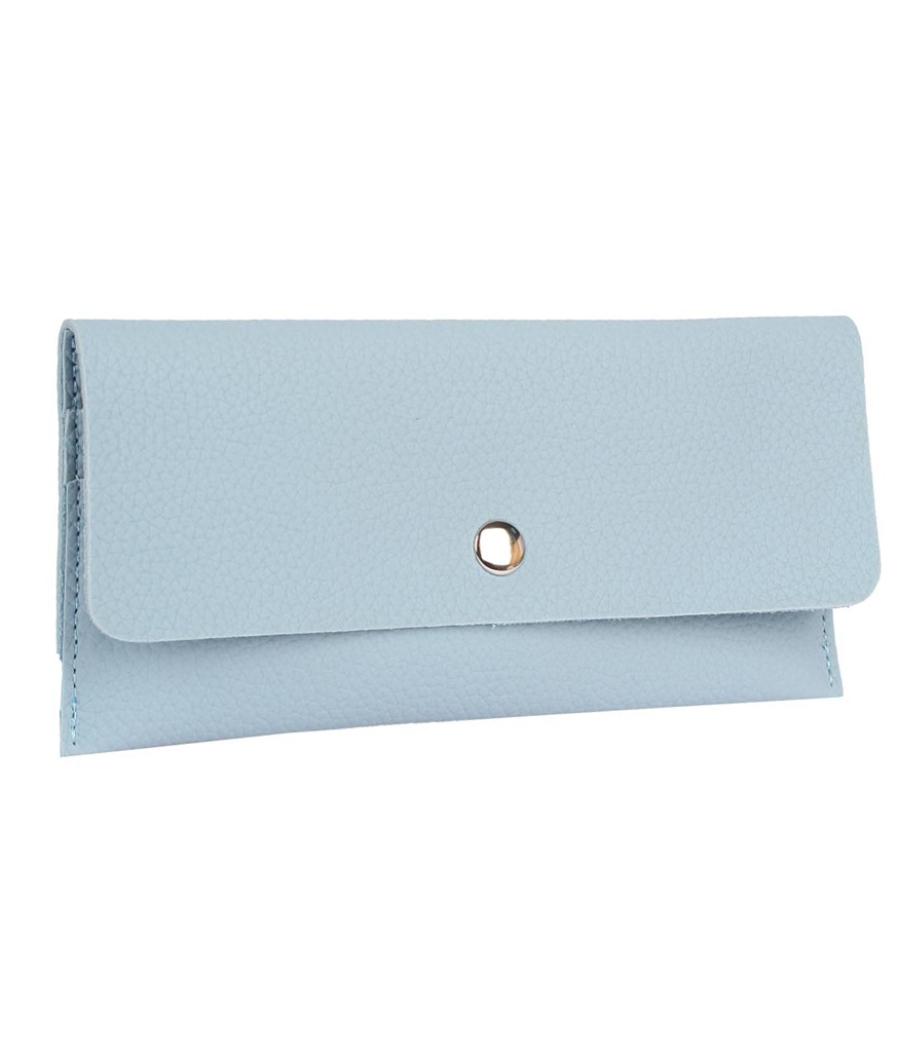 Envie Faux Leather Blue Coloured Magnetic Snap Wallet