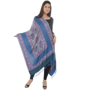 Blue/Multi Fringed Beauty Shawl
