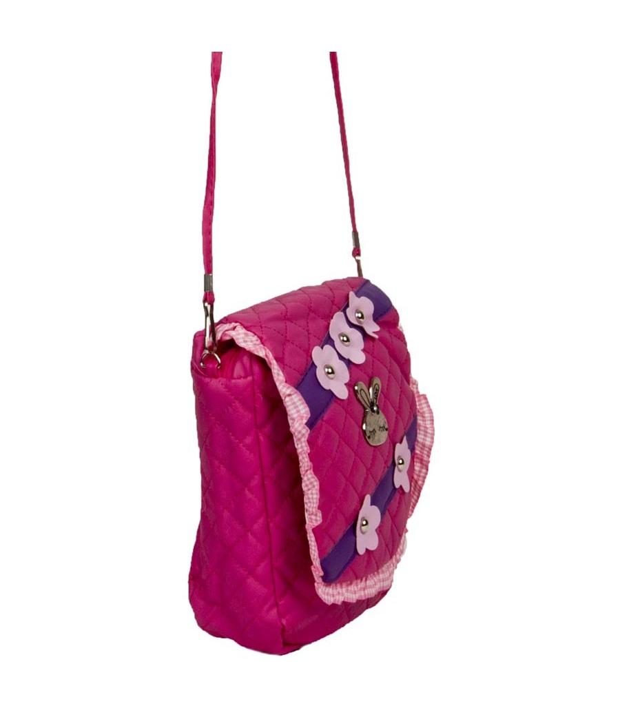Envie Pink Zipper Closure Embellished Crossbody Bag