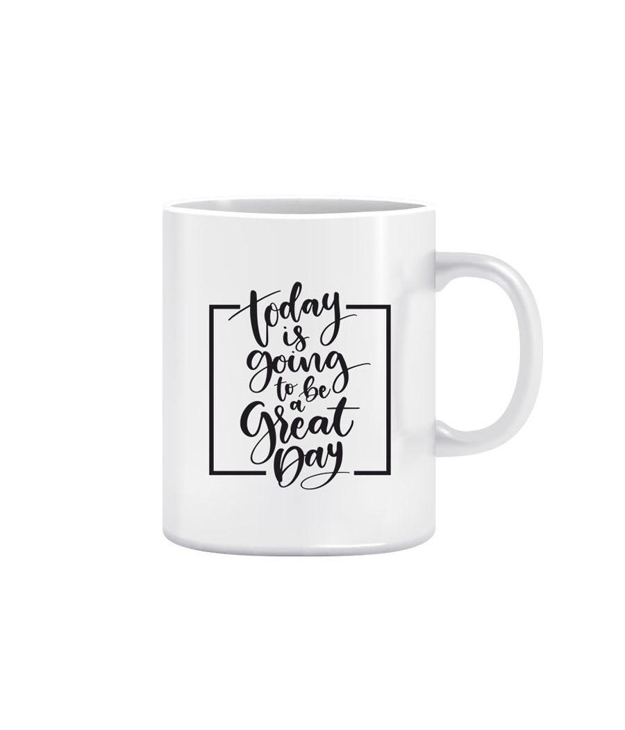 Joy N Fun -           GREAT DAY - Printed Coffee Mug, 320ml, White