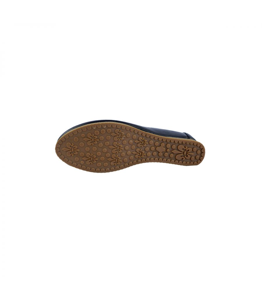 Estatos PU black Broad Toe Flat Casual Loafers