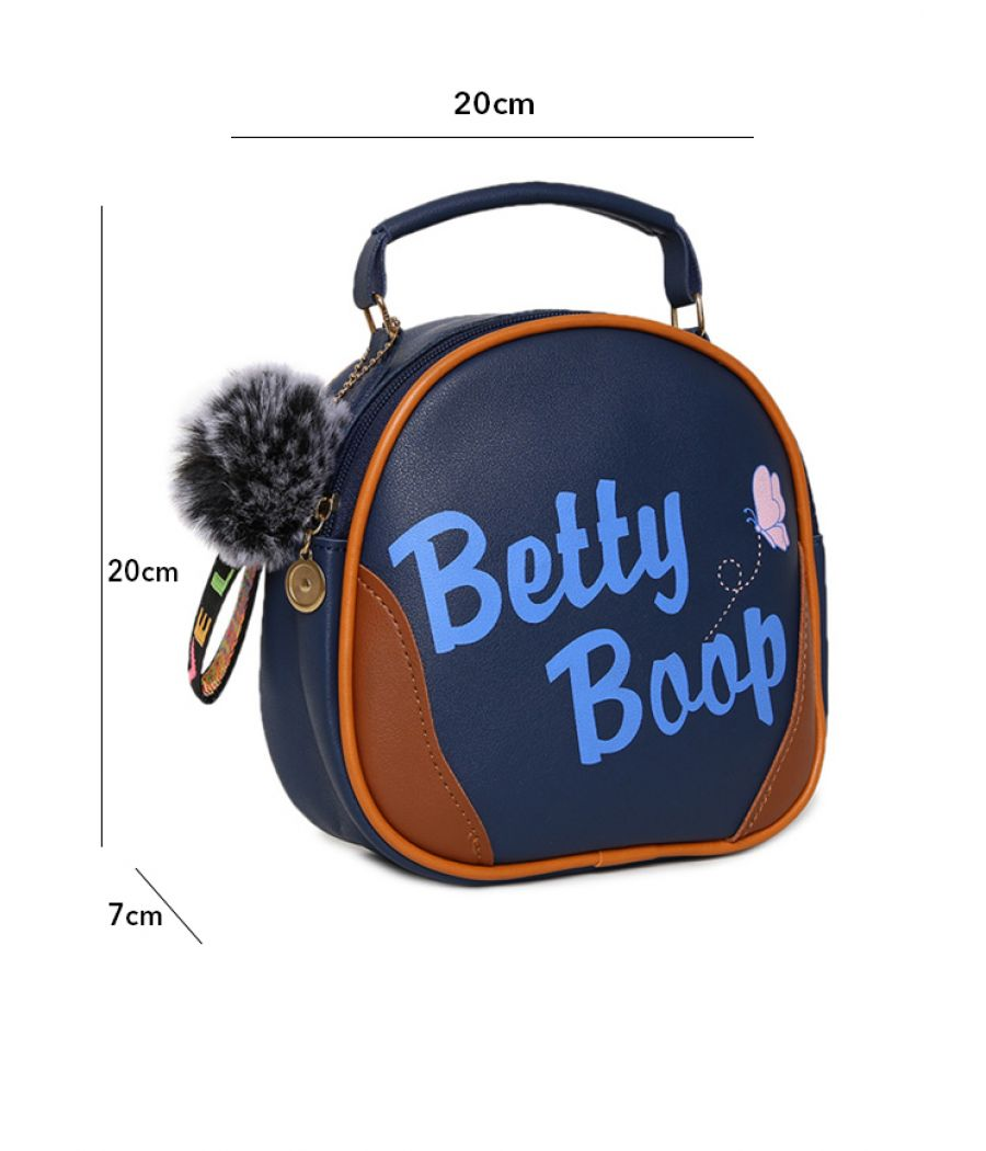 Envie Navy Blue Colour Printed Slingbag for College Girls