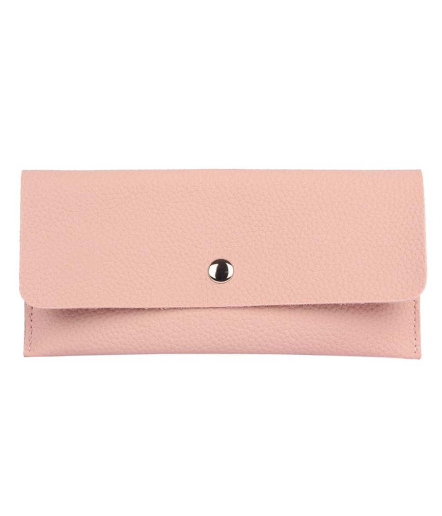 Envie Faux Leather Peach Coloured Magnetic Snap Wallet