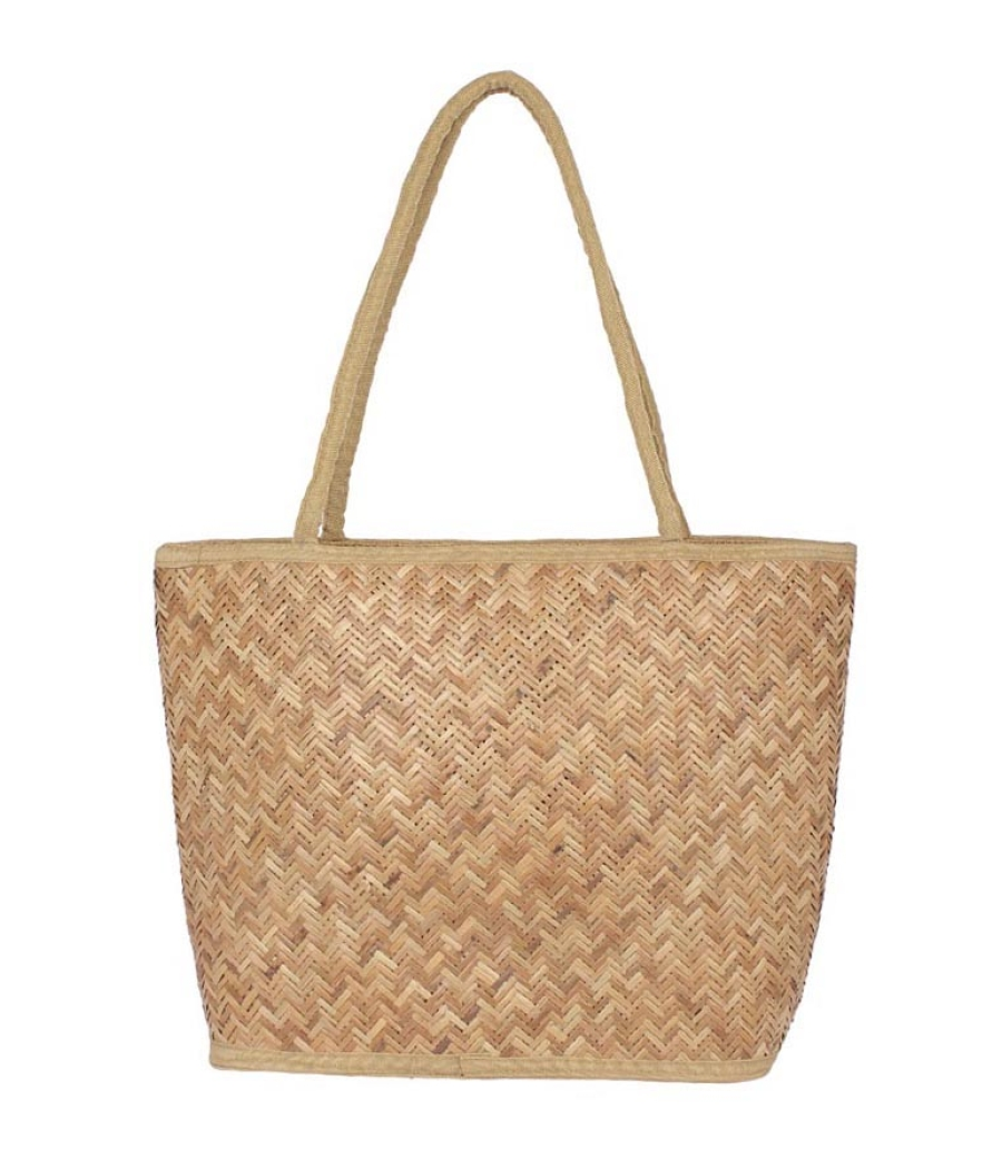Aliado Jute Beige Coloured Zipper Closure Handbag