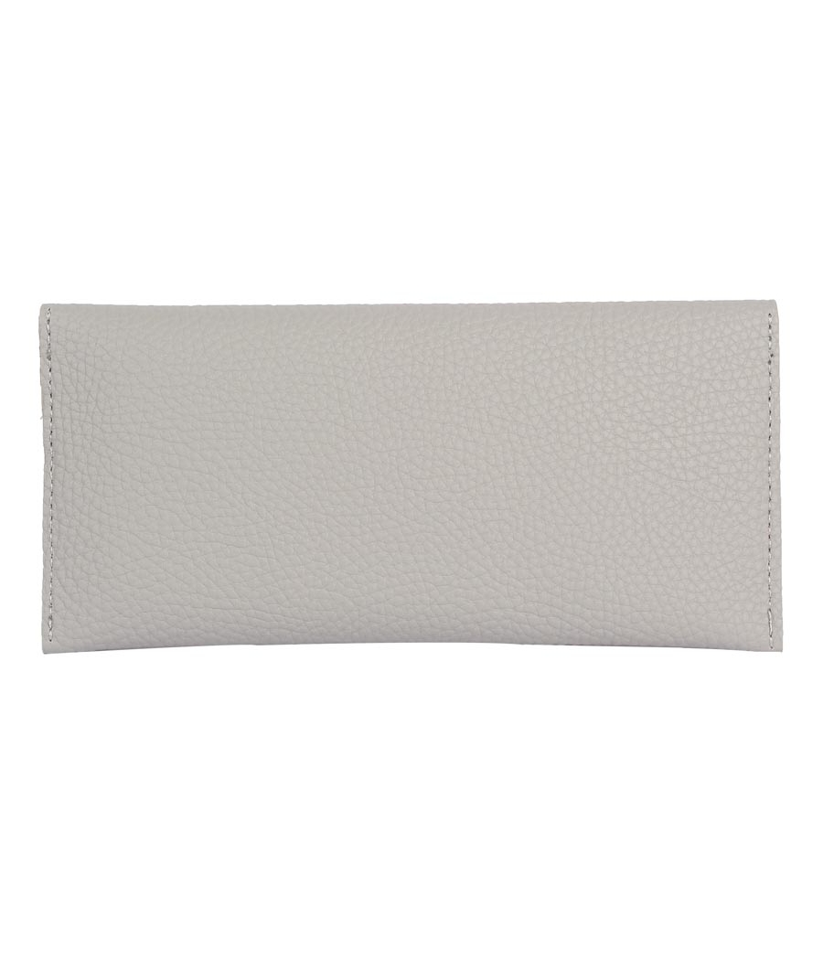 Envie Faux Leather Grey Coloured Magnetic Snap Wallet
