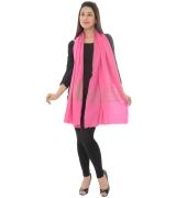 Sanida Embroidered Pashmina Pink Shawl