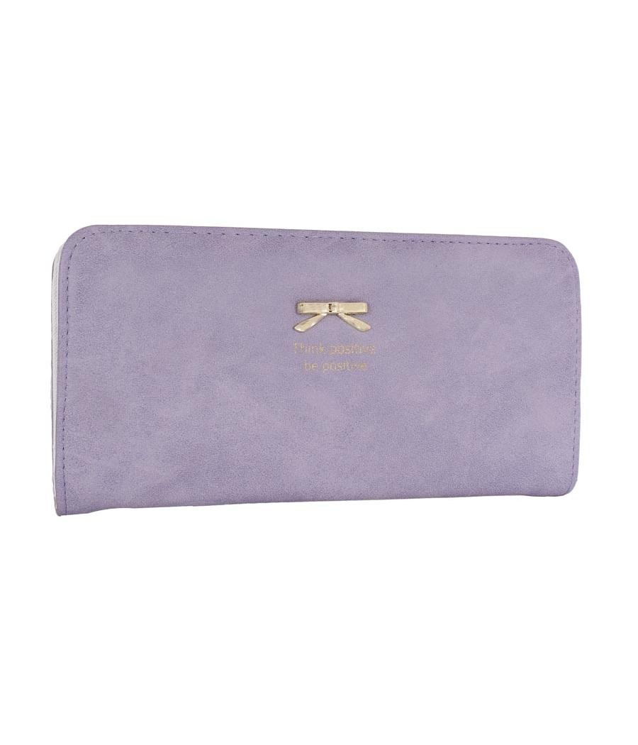 Envie Faux Leather Purple Coloured Zipper Closure Wallet