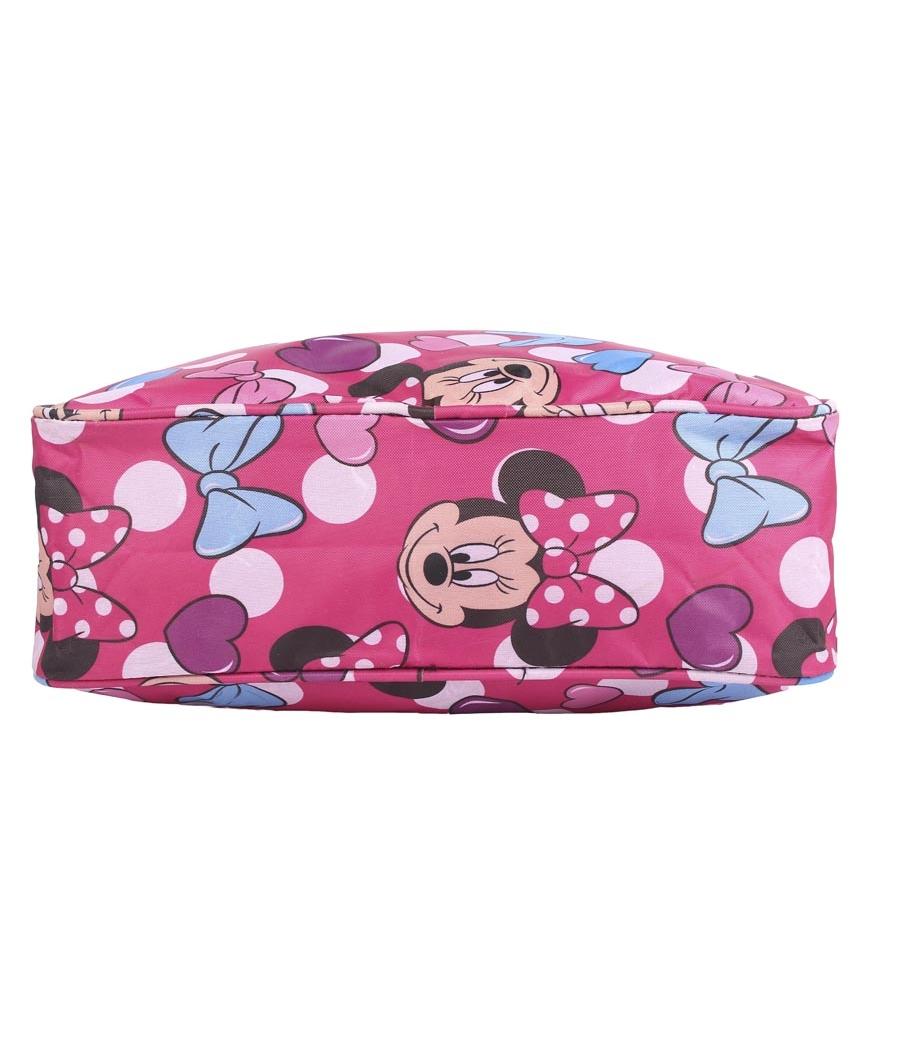 Aliado Cloth/Textile/Fabric Printed Pink & Multi Coloured Zipper Closure Handbag