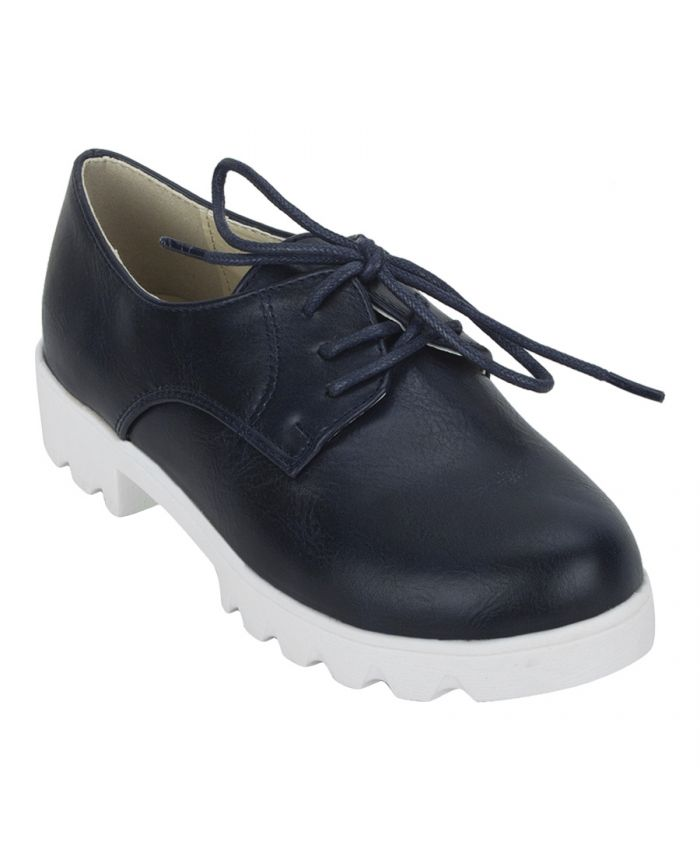 Buy Joy n Fun Frosted Leather Broad Toe