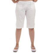 Fame Forever Cotton Solid Knee Length Regular Waist Casual Capri