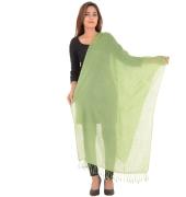 Sanida Woollen Solid Green Stole