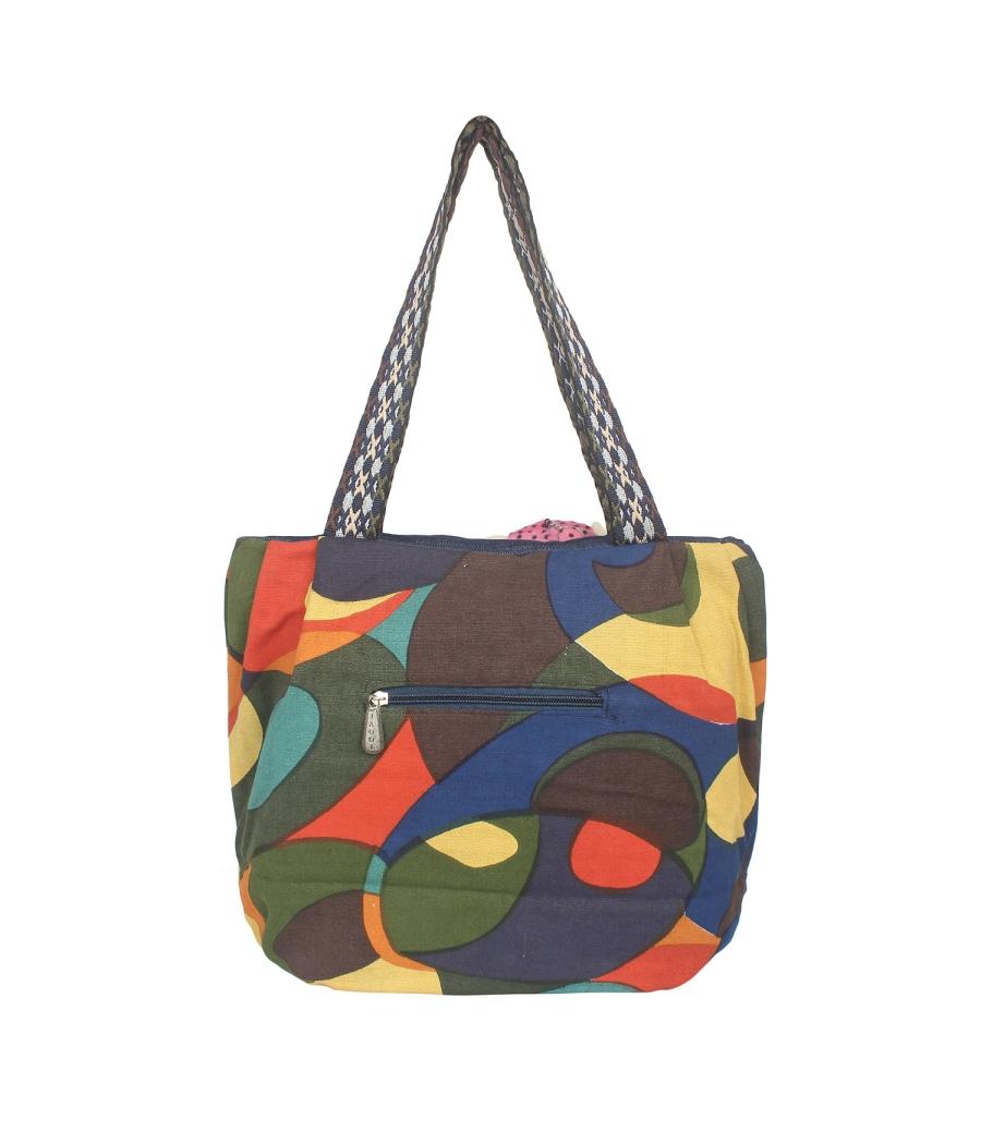 Aliado Multi Artificial Leather Zipper Closure Handbag