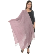 Sanida Self Design Modal Pink/Multi Shawl