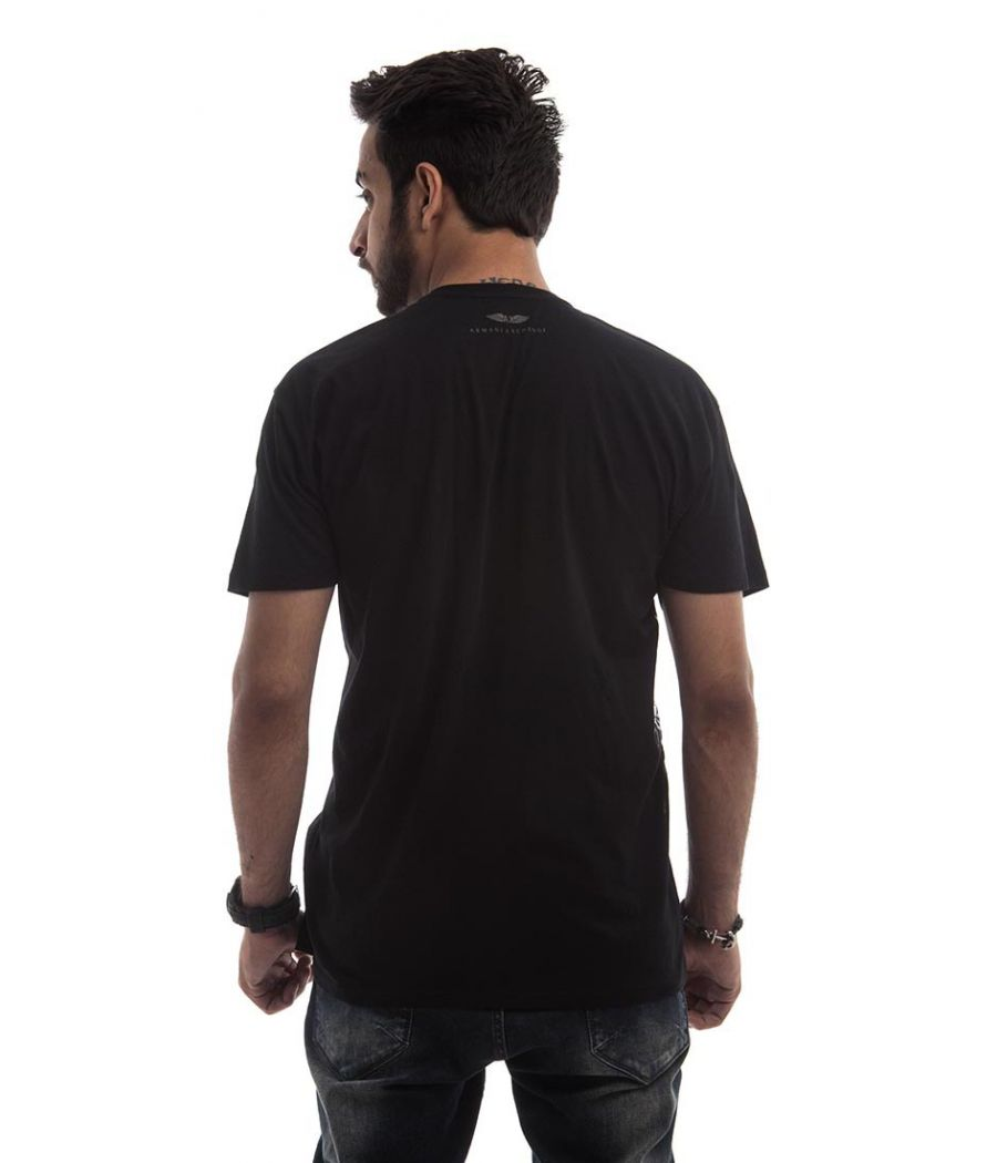 Armani Exchange Polycotton Plain Black Round Neck Casual T-shirt