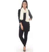 Off-White Plain Pashmina Shawl
