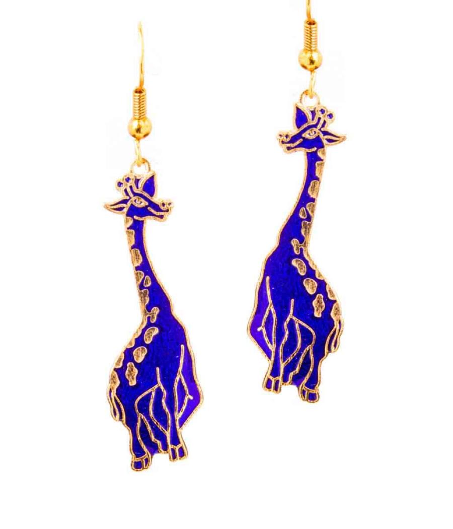 Long Enamel Earrings