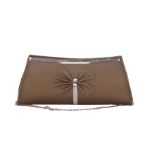 Envie Faux Leather Solid Bronze  Magnetic Snap Crossbody Bag