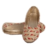 MCS Synthetic Leather Beige Coloured Broad Toe Flat Heel Bellies