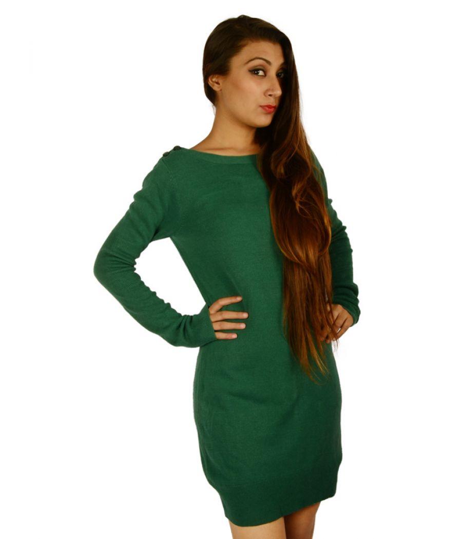 Dorothy Perkins Green Long Jumper Dress
