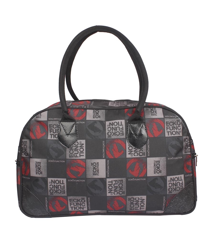 Aliado Cloth/Textile/Fabric Printed Black Coloured Zipper Closure Handbag