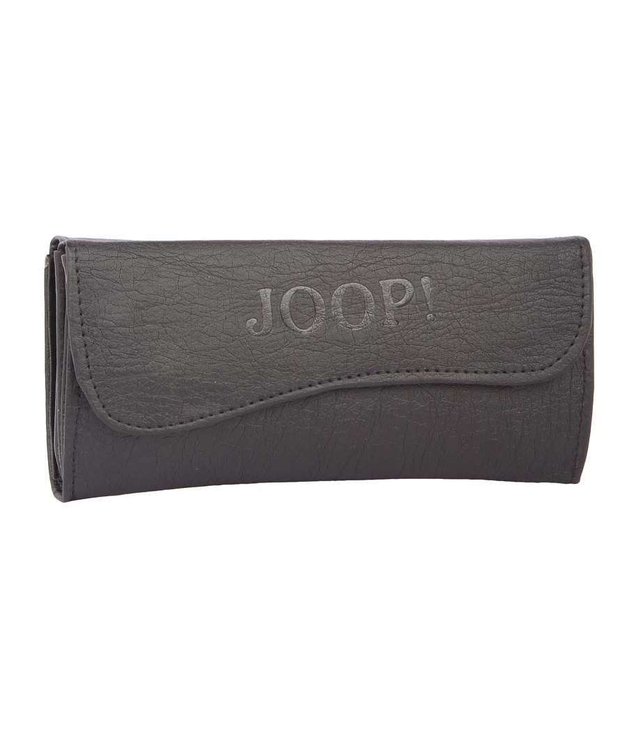 Envie Faux Leather Solid Black Magnetic Snap Fold Over Clutch