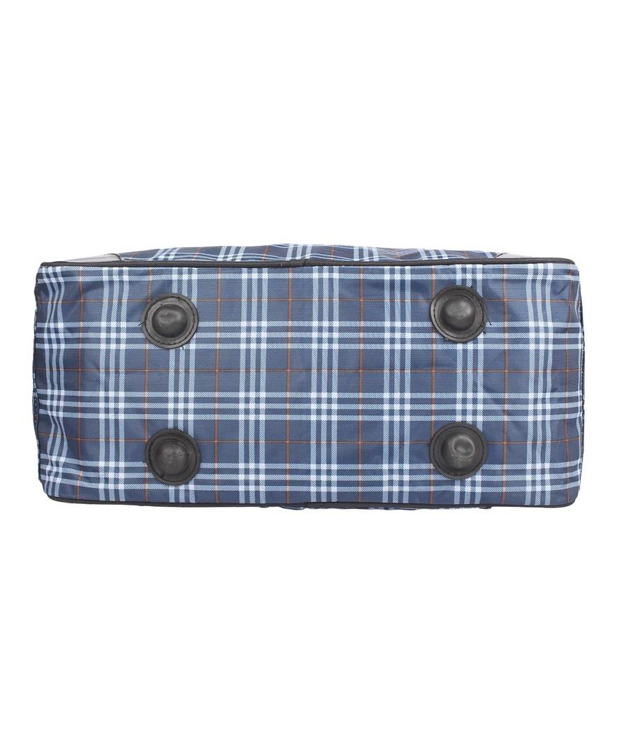 Aliado Cloth/Textile/Fabric Blue Coloured Printed Zipper Handbag