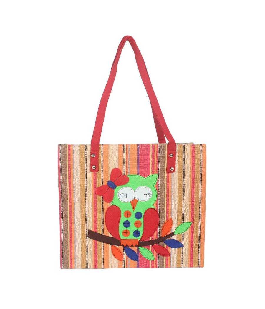 Aliado red colour Artificial Leather Zipper Closure Handbag