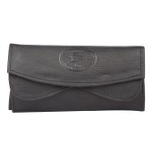 Envie Faux Leather Black Coloured Magnetic Snap Clutch