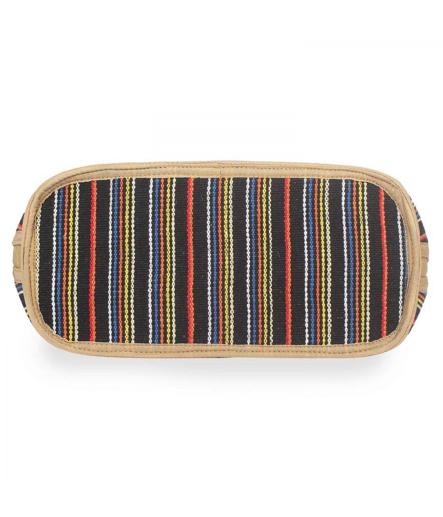 Aliado Textile MultiColor Zipper Closure  Handbags