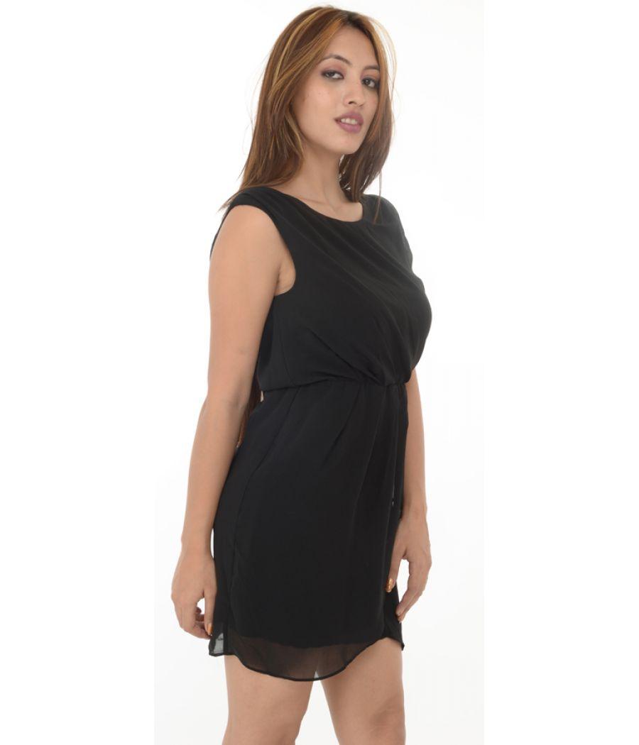 TFNC London Black Wrap Dress
