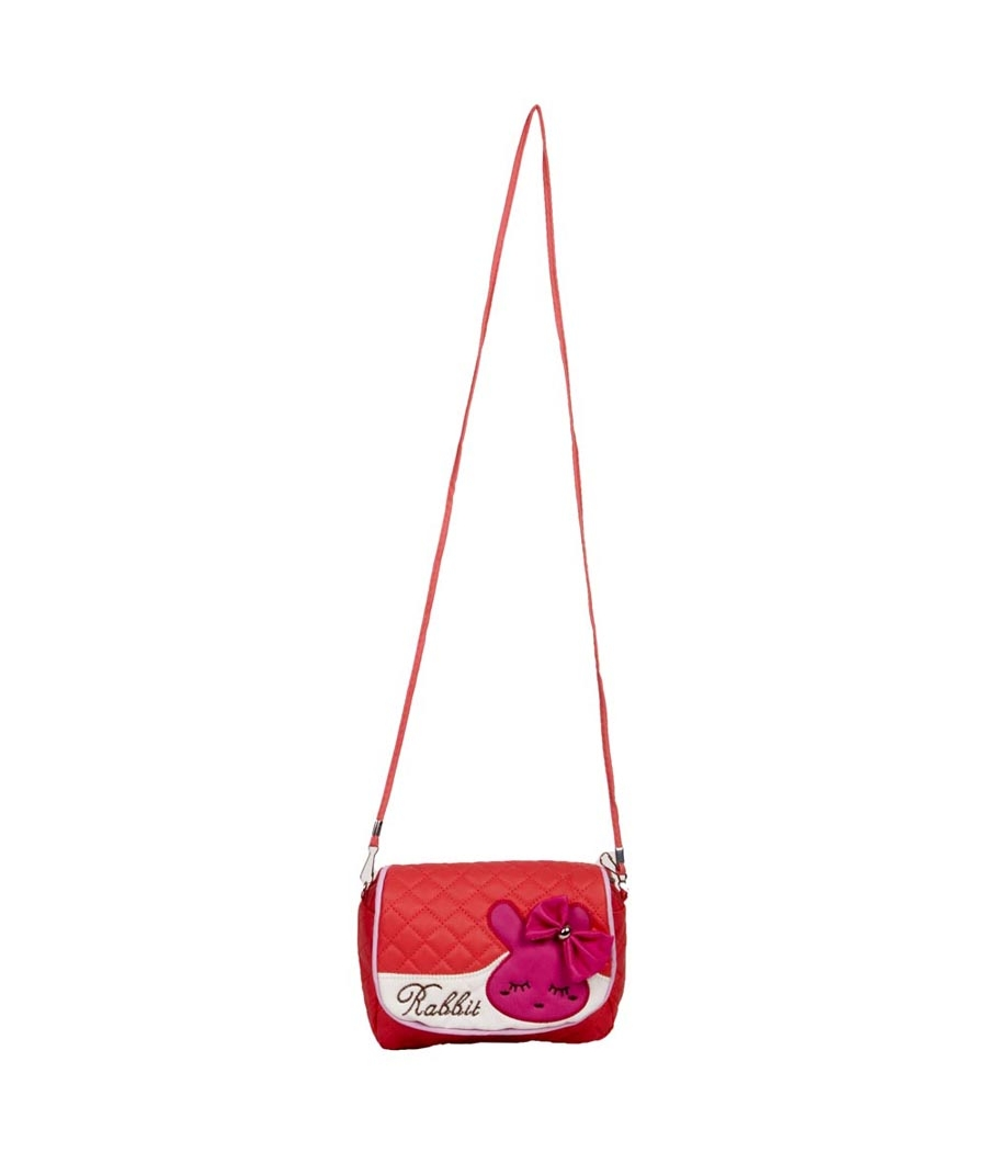 Envie  Quilted Orange Zipper Closure Crossbody Bag