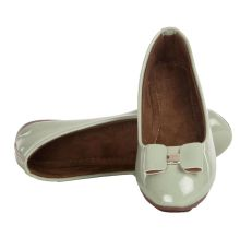 MCS Synthetic Leather Sea Green Broad Toe Belly Shoes
