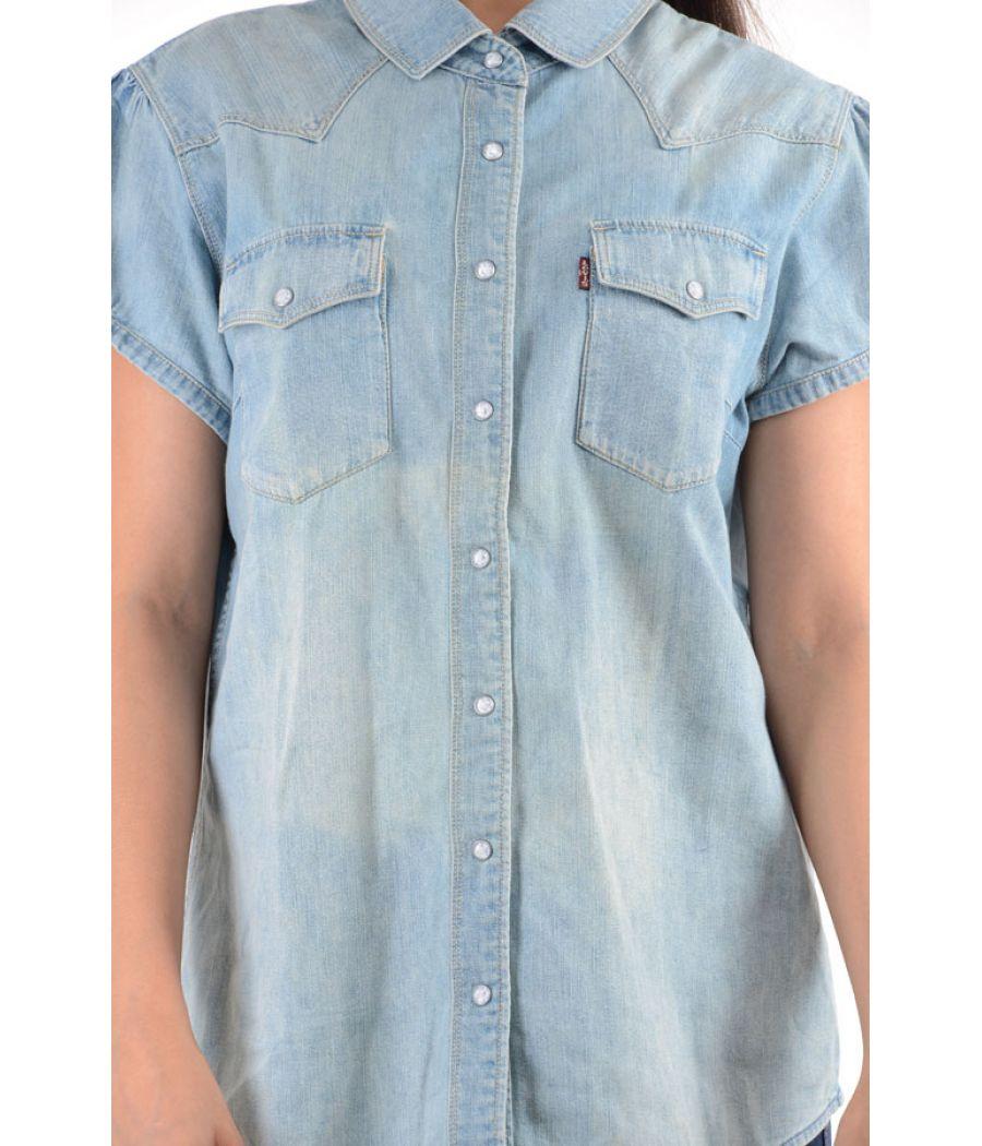 Levis Denim Half Sleeves Shirt