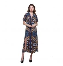 Estance Crepe Abstract Print Multicoloured Maxi Dress