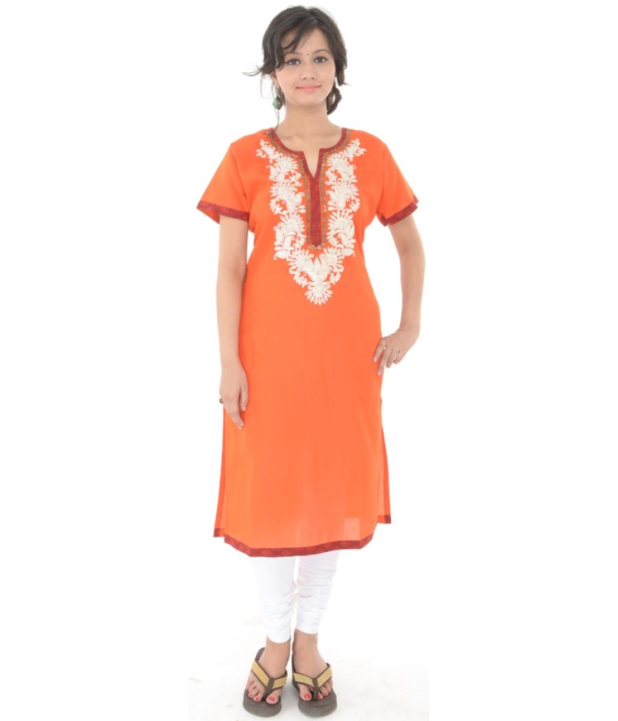 Tangerien Orange Rubia Kurta