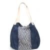 Blue Handloom Jacquard Handbag