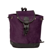Aliado Velvet Solid Purple  Backpack