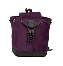 Aliado Velvet Solid Purple  Backpack
