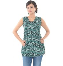 Trust Green Printed Top