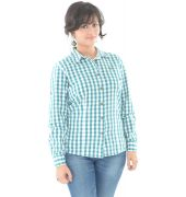 Relaxed Fit White & Green Check Shirt