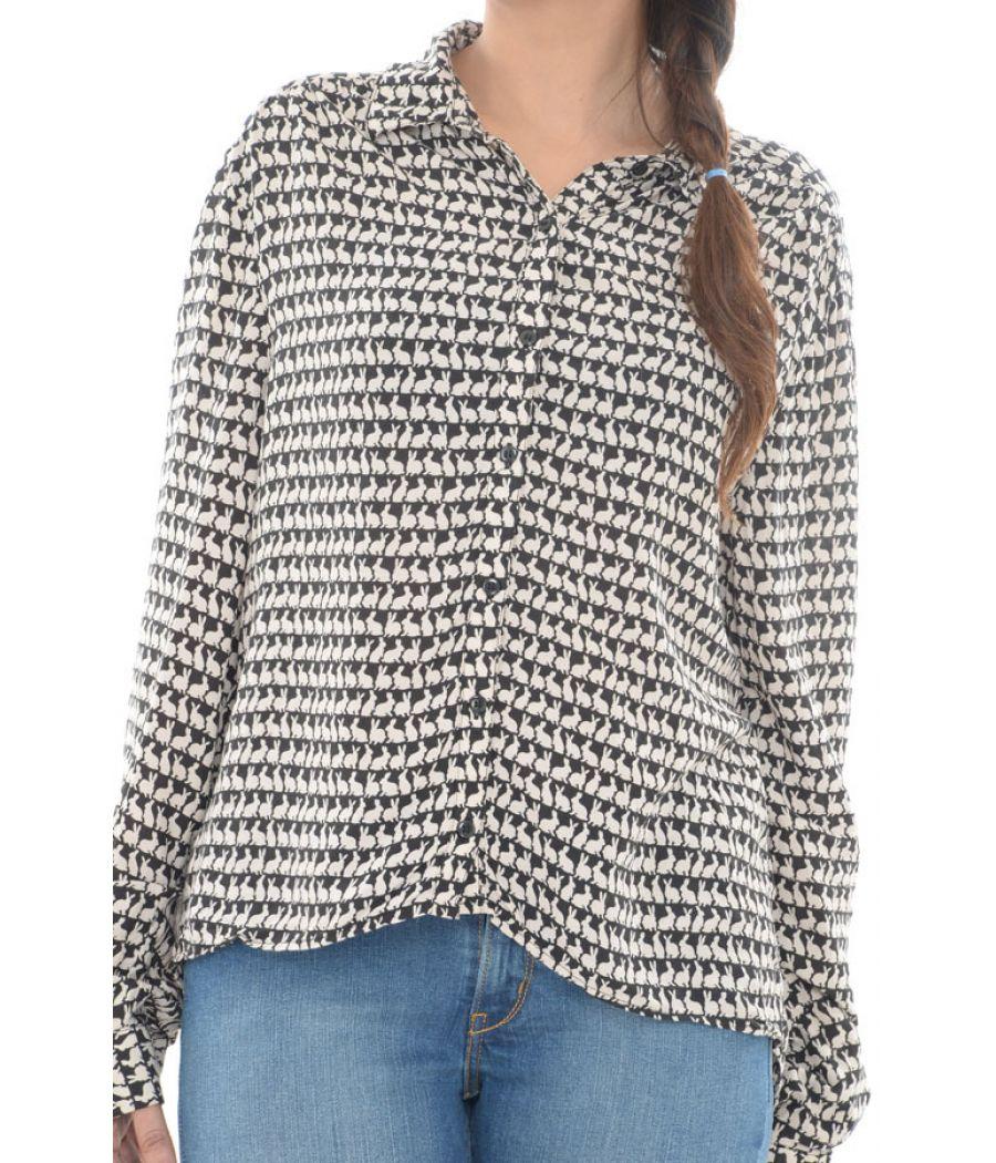 H & M Cotton Blended Rabbit Print Shirt