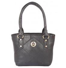 Aliado Faux Leather Black Coloured Zipper Closure Handbag