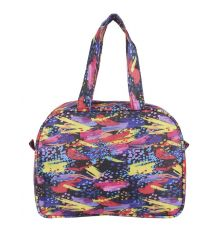 Aliado Cloth/Textile/Fabric Multi Coloured Printed    Zipper Closure Handbag