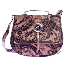 Envie Faux Leather Brown Embellished Magnetic Snap Sling Bag