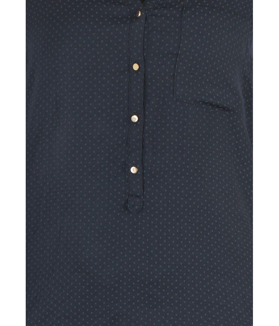 Zara Basic Polyester Polka Dots Full Sleeves Button Closure Casual Top